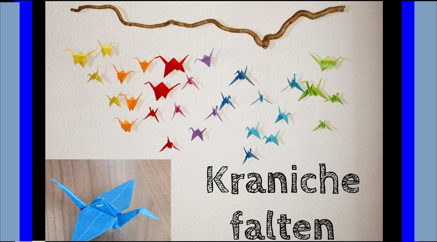 [DIY mit Mel] Kraniche falten für ein Origami-Mobile