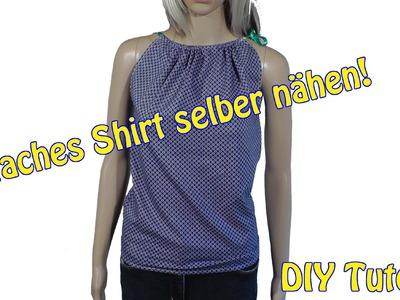 Einfaches Shirt selber nähen | DIY Tutorial | Nähen für Anfänger