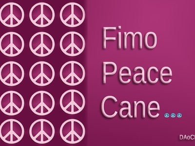 FIMO Friedens-Cane: Polymer Peacesign - Tutorial [HD.deutsch]