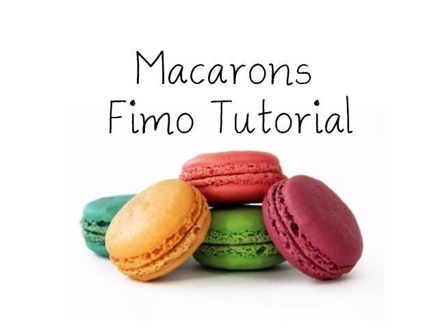 [Fimo] Macarons Fimo Tutorial. Macarons Polymer Clay Tutorial   Anielas Fimo
