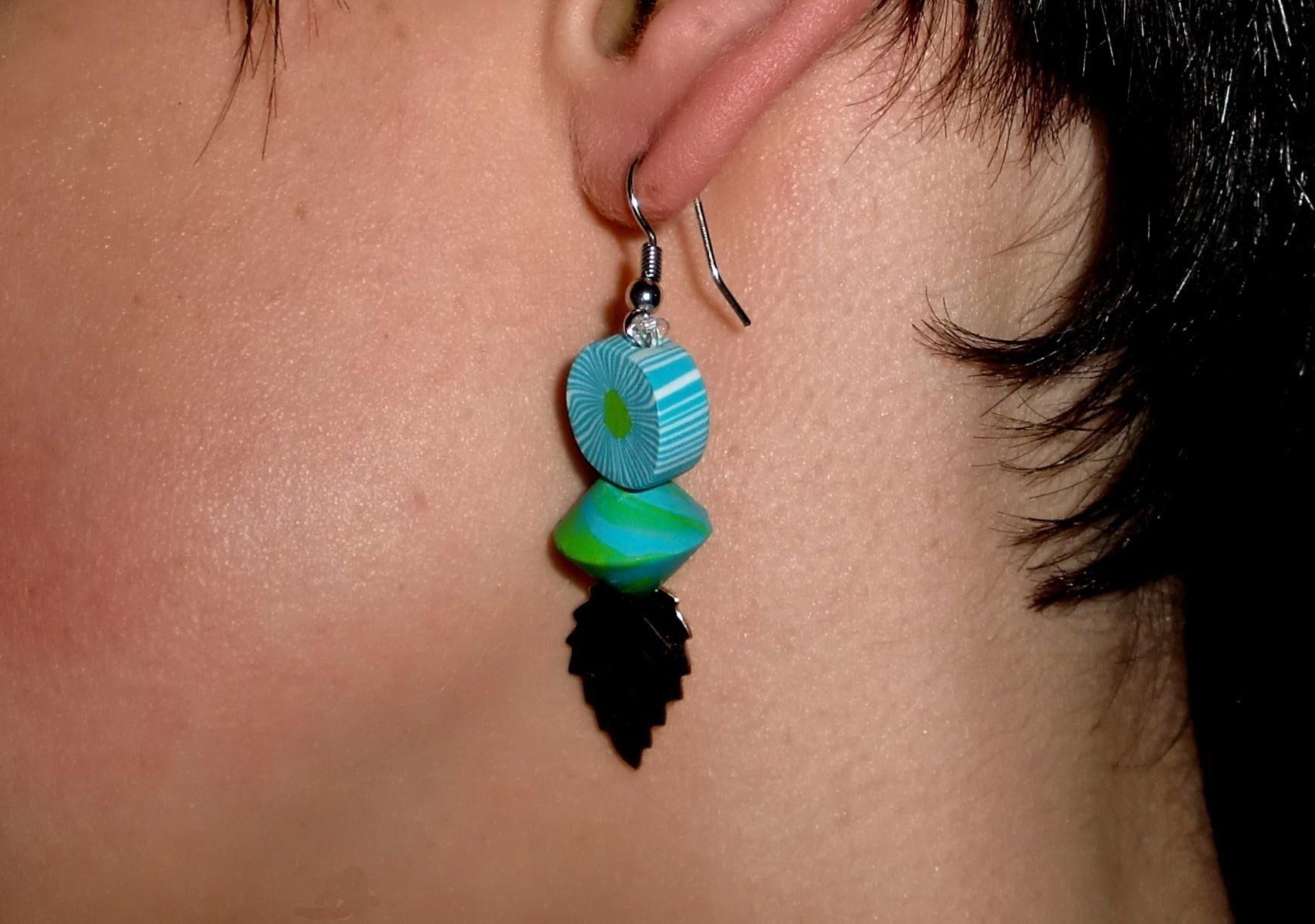 FIMO Ohrringe Funny Beads: Polymer earrings - Tutorial [HD.deutsch]