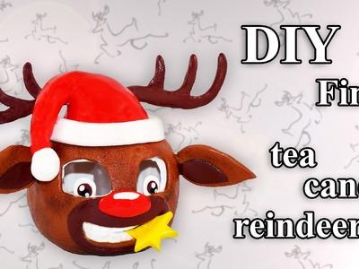 FIMO Rentier (Teelicht): Polymer clay Reindeer - Tutorial [HD.DE] (EN-Sub)