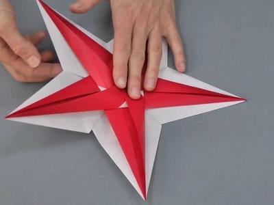 KreativPLUS: Faltanleitung für den Origami-Stern aus der Landlust Ausgabe Nov.Dez 2013