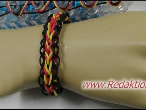 Loom Bands mit Rainbow-Loom - Armband - Deutsch - H