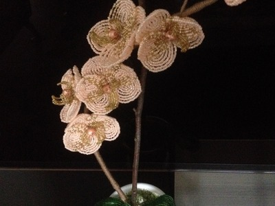 Orchidee aus Glasperlen. Teil 3.3. Blumen aus Perlen. Flowers out of beads. Anna's Perlen.