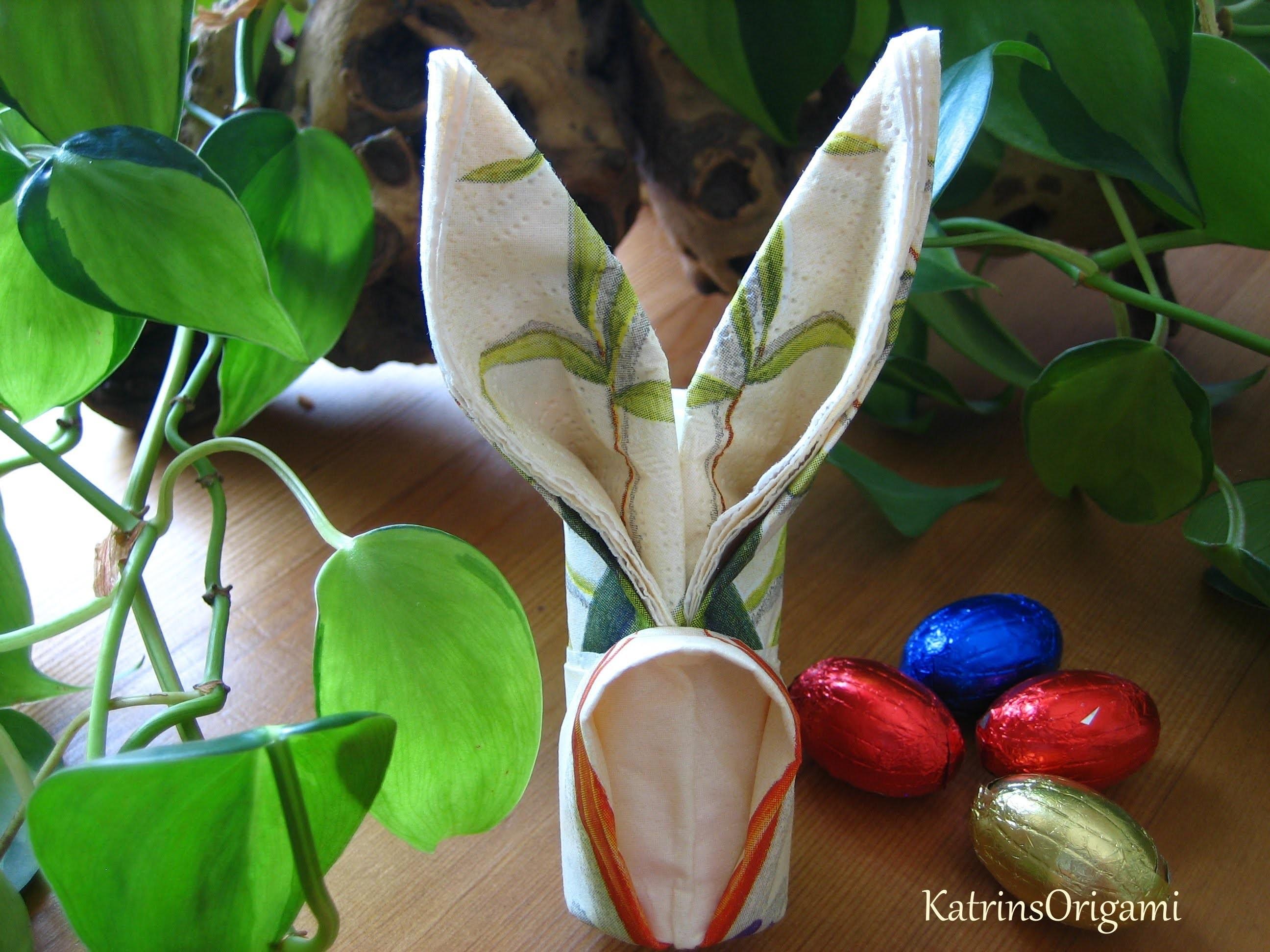 Origami ❀ Easter Bunny ❀ ( Napkin )