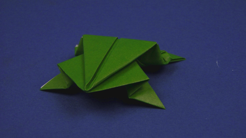 Origami Frosch - Faltanleitung