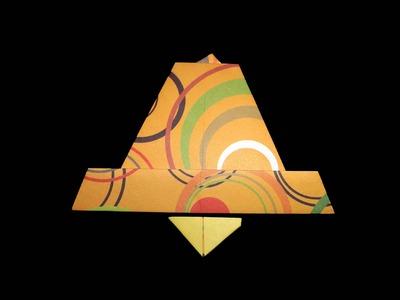 Origami Glocke: Golden Paper-Bell - Faltanleitung [HD.DE] (Live erklärt)