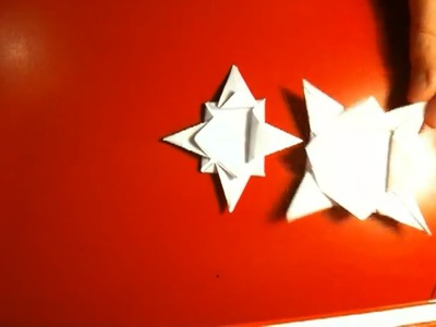 Origami Stern falten - Anleitung