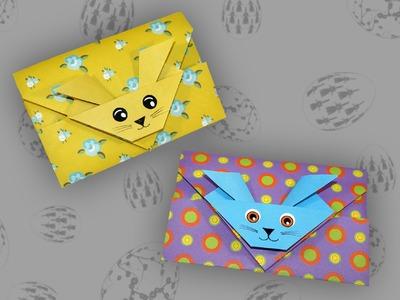 Origami Umschlag (Osterhase): Envelope - Faltanleitung (Live erklärt)