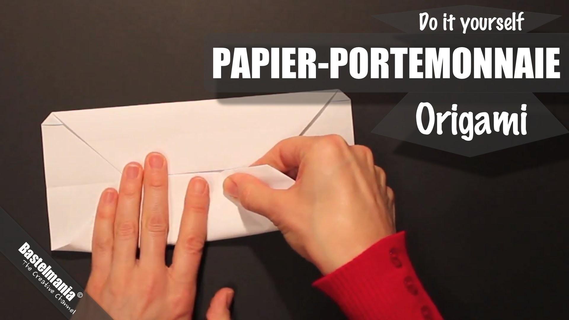 Papier Portemonnaie. Paper Wallet. Origami. Portemonnaie falten
