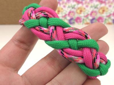 Paracord Celtic Knot Armband. DIY Knoten Paracord Bracelet. Schmuck Anleitung deutsch
