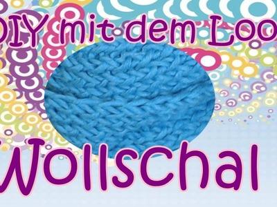 Schal loomen. Anleitung Deutsch. Loom und Hook