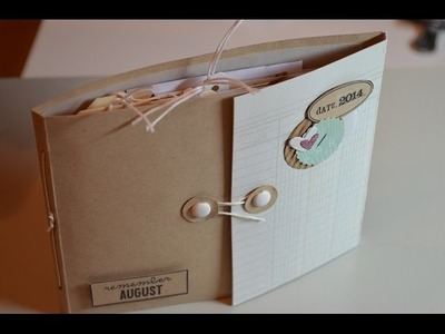 Scrapbook aus Resten [Upcycling,Junk Journal,] Mini Album mit Fadenbindung [ tutorial deutsch]