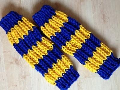 Stricken - Beinstulpen Patentmuster  aus HATNUT Wolle Cool von Pro Lana