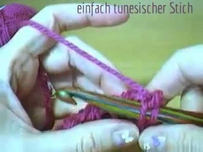Tunesisch Häkeln (langsam_step by step_slow-motion) Tunisian Crochet