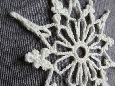 Weihnachtlich häkeln IV * Häkelstern * Crochet Snowflake [eng sub]