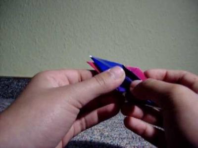 Wie man einen Origami Kranich faltet