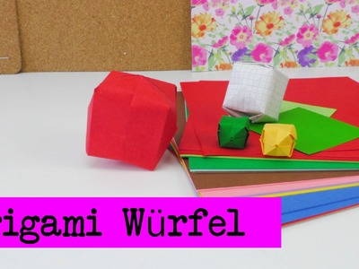 Würfel. Wasserbomben Origami DIY. Würfel aus Papier falten ganz einfach deutsch
