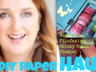 XL DIY Paper Haul + Washi Tape + Stempel + Deko Papier