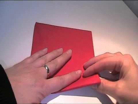 Anleitung - Serviette als Blume falten (Origami)