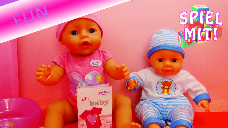 Babypuppen Spielzeug Vergleich. Laura Sun von Simba und Hello Baby Born von Zapf Creation