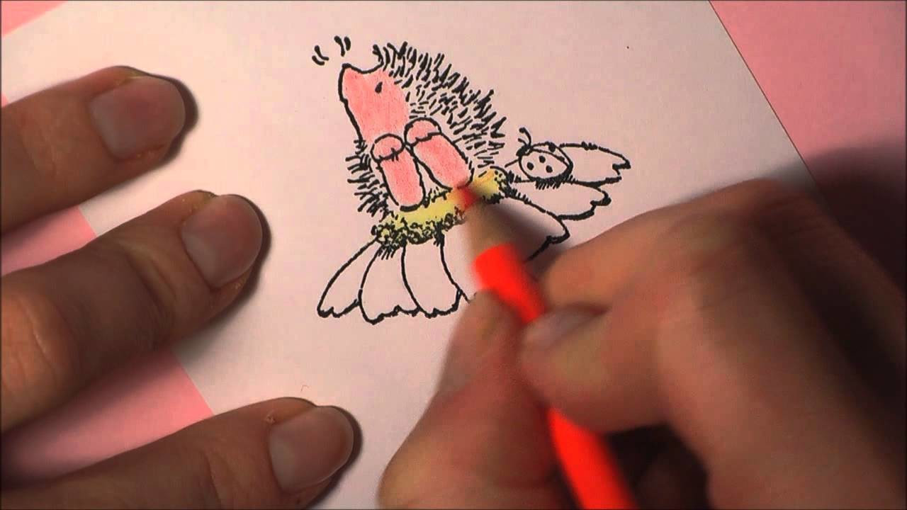 [CRAFT ROOM] #6 Coloration eines Stempelmotivs mit Polychromos