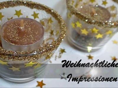 """[DIY - Bastel Tutorial] Weihnachtliche Teelichter """"Sternen Zauber"""""""