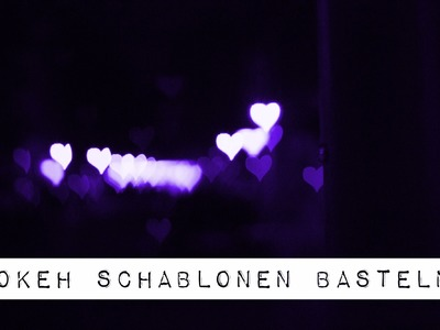 DIY BOKEH SCHABLONEN BASTEL TUTORIAL MIT DEN SPACE FROGS