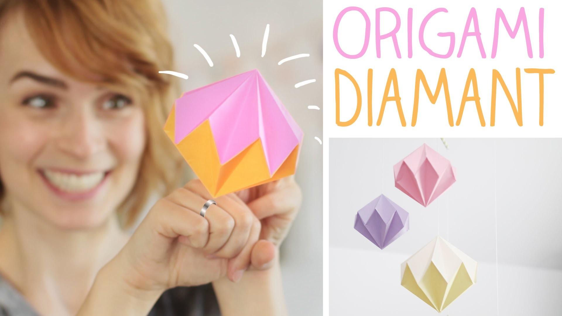 DIY Diamant falten in nur 8 Schritten - Origami Deko, Mobile - alive4fashion