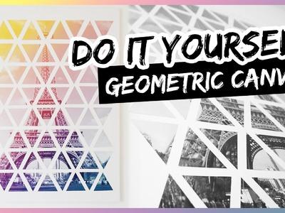 DIY Geometric Paris Eiffel Tower II Leinwand Kunst