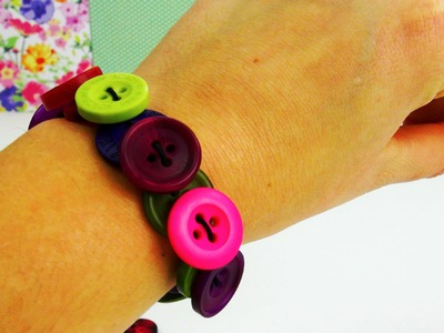 DIY Knopf Armband. Armband aus Knöpfen schnell gemacht! Button Bracelet Tutorial | deutsch