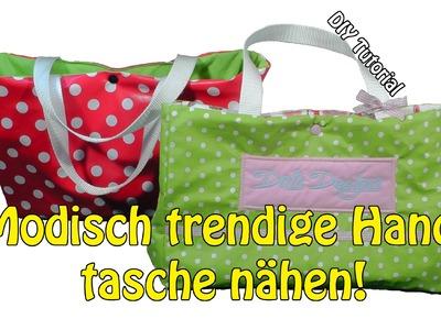 DIY | Modisch trendige kleine Handtasche selber nähen | Nähen für Anfänger | Tutorial