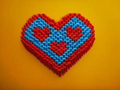DIY Origami 3D Herz, Geschenk zum Vatertag, Geburtstag, Father´s day Gift Ideas Heart Tutorial