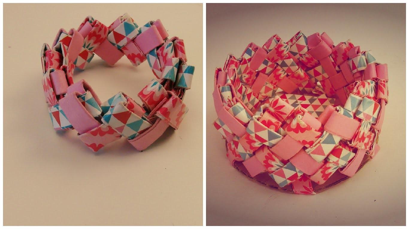 DIY Origami Falt Behälter + Armband mit selber Falttechnik. Bastel DIY Kathi bastelt für euch