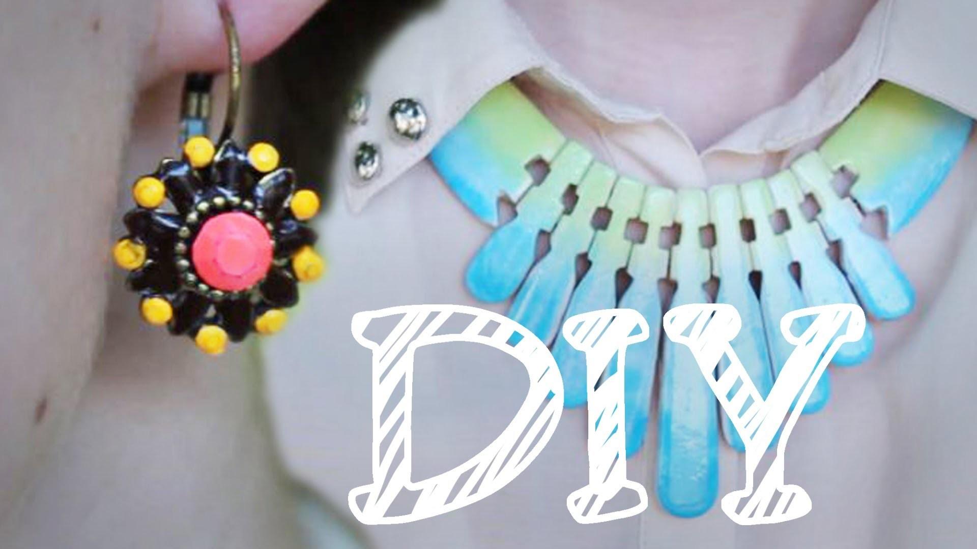 |DIY| Schmuck umfärben mit Nagellack - Ombré-Effekt - Neon