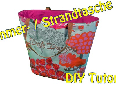 DIY | Sommer. Strandtasche selber nähen | Nähen für Anfänger | Tutorial