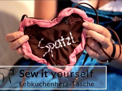 DIY Tutorial: Lebkuchenherz-Tasche selber nähen