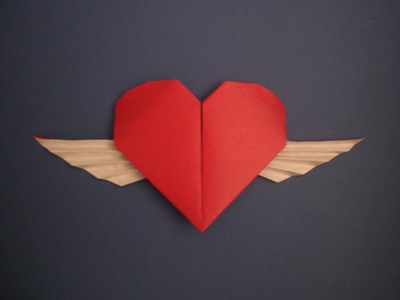 Faltanleitung: geflügeltes Herz (Francis Ow)