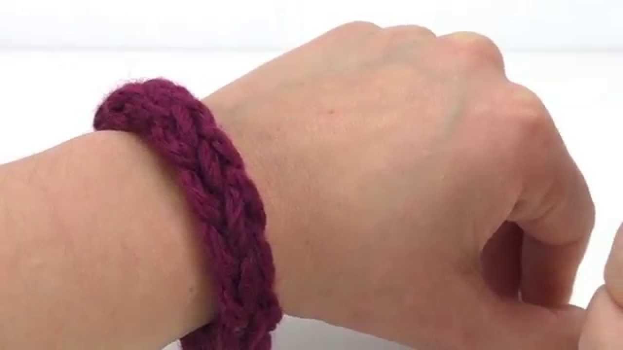 Fingerstricken mit 3 Finger - einfaches Armband aus Wollresten - einfach und schnell