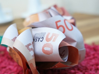 Geldscheine falten Rose, Geldgeschenk zur Hochzeit, DIY Origami Tutorial Deutsch #TrauDirWasZu