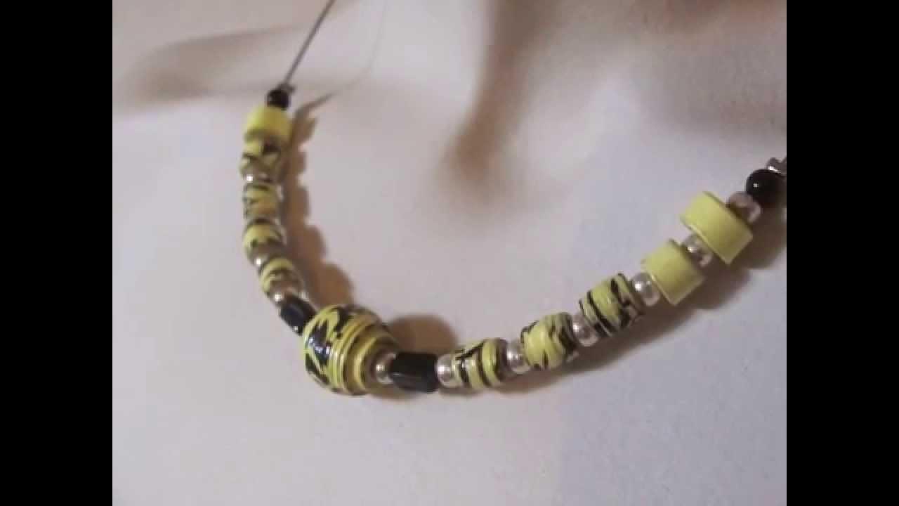 Halsketten aus Papierperlen made by BRIsART - paper beads - upcycling Schmuck
