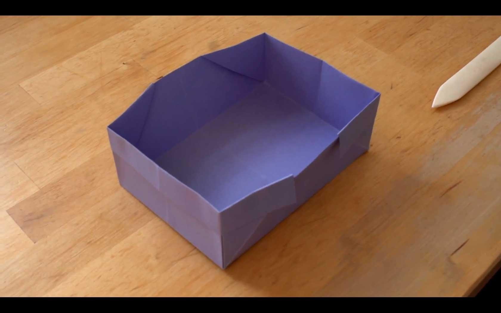 How To Make an Origami Box - Falte Dir eine Origami-Schachtel!