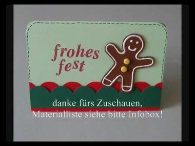 Karte: Weihnachten Nr. 3 (Lebkuchenmann)