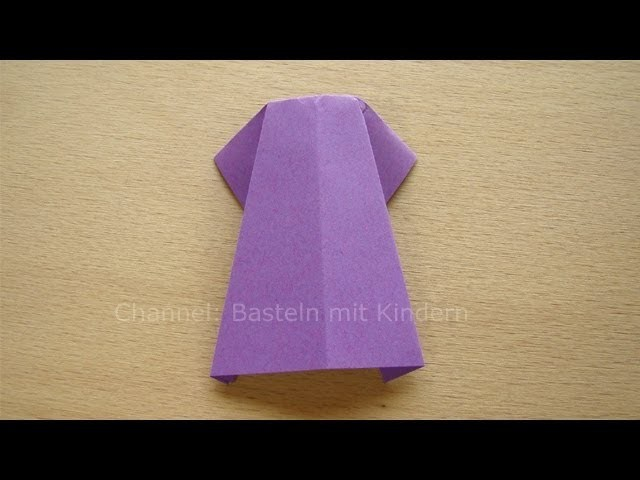 Kleid falten aus Papier - Origami