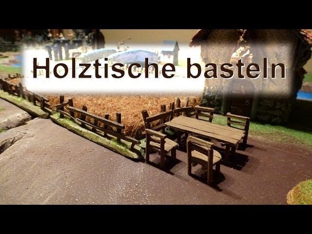 Lets craft # 057 Bastel Tutorial - Miniatur Tische basteln und bemalen