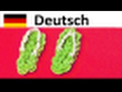 Loom Bands Anleitung Deutsch Sandalen. Rainbow Loom. Loom bandz