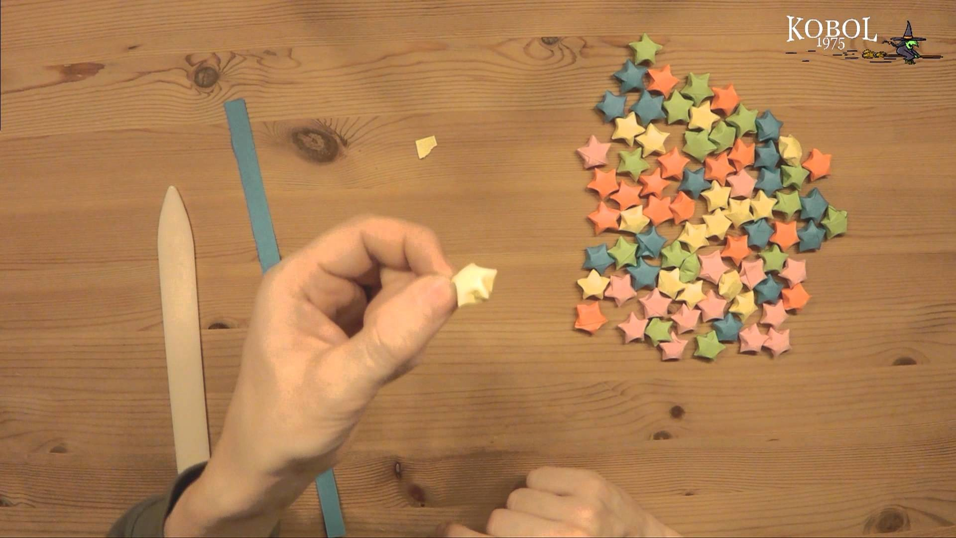 Lucky Star, kleine 3D Sterne, Dekoration Origami Luckystars