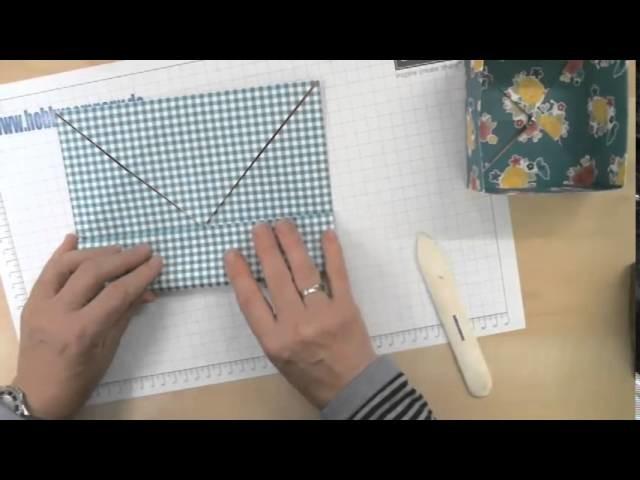 Origami-Box mit Designerpapier von Stampin up