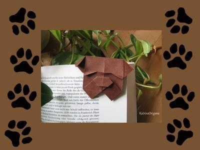 Origami ♦ Bulldog Bookmark ♦